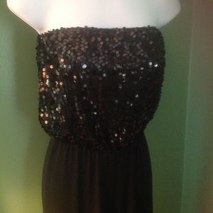 Black Sleeveless sequin jumpsuit Charlotte Russe S